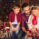 Dad with Kids Christmas